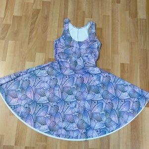 Blackmilk Reversible Long Torso Skater Dress